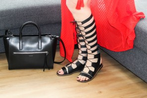 Longtallsally high Roman leather sandals for summer 2016